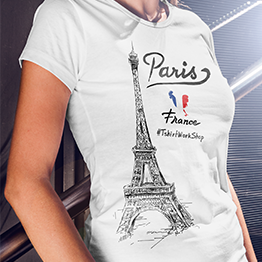 I love Pariz T-shirt dizajn