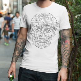 Structural skull T-shirt dizajn