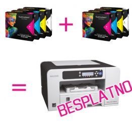 Printer Ricoh 3110DN + 2 seta boja
