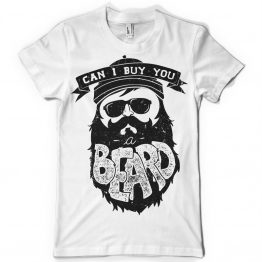 Can I buy you a beard - T-shirt print design