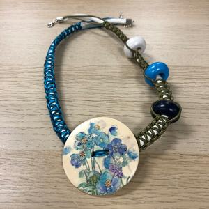 Unikatna ogrlica - Plavi cvjetovi