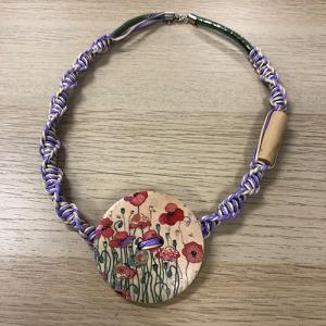 Unikatna ogrlica - Polja makova