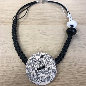 Unikatna ogrlica - Crno i Bijelo