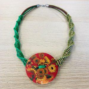 Unikatna ogrlica - Suncokreti